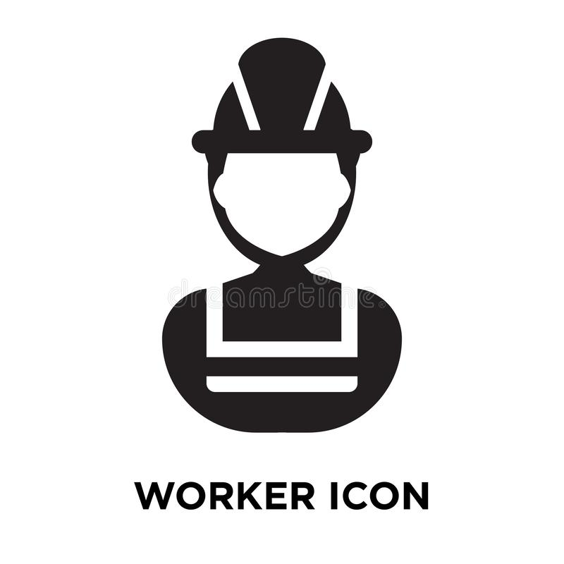 Factory Worker Manager Working Pictogram Stock Vector