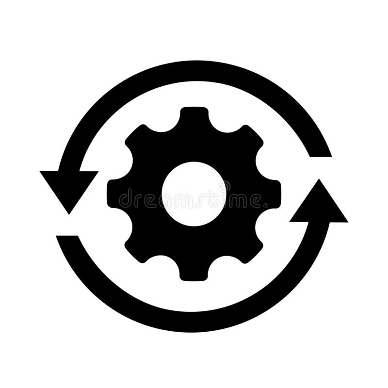workflow process icon gear