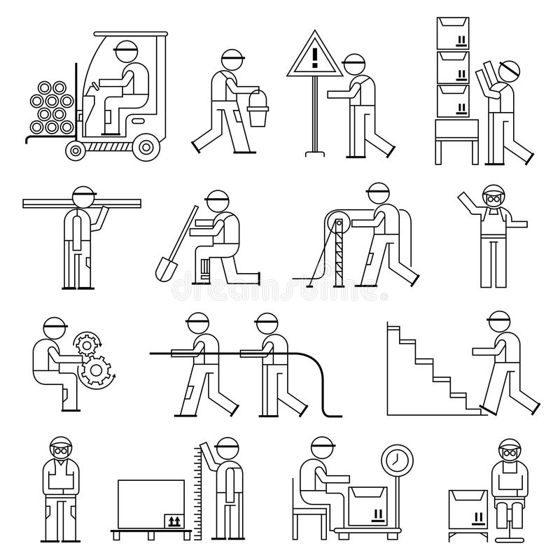 Working People Factory Stock Illustrations