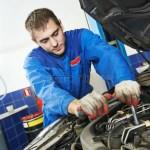 Working Repairman Auto Mechanic Stock Image Image Of