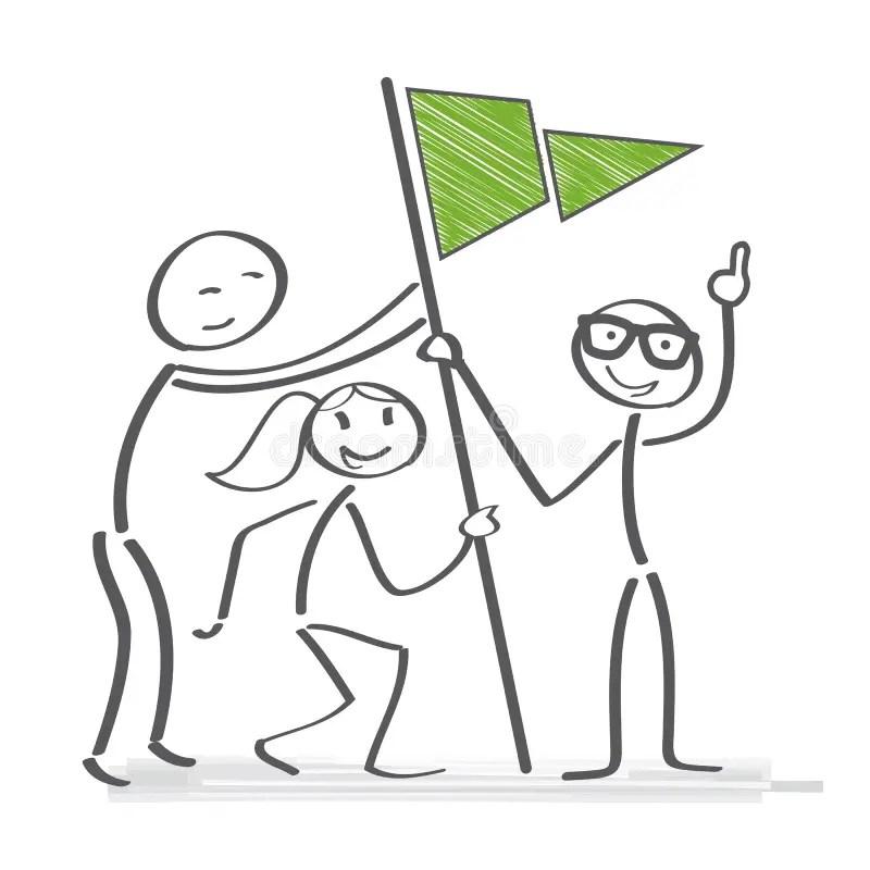 Banner Team Building Concept Stock Illustration