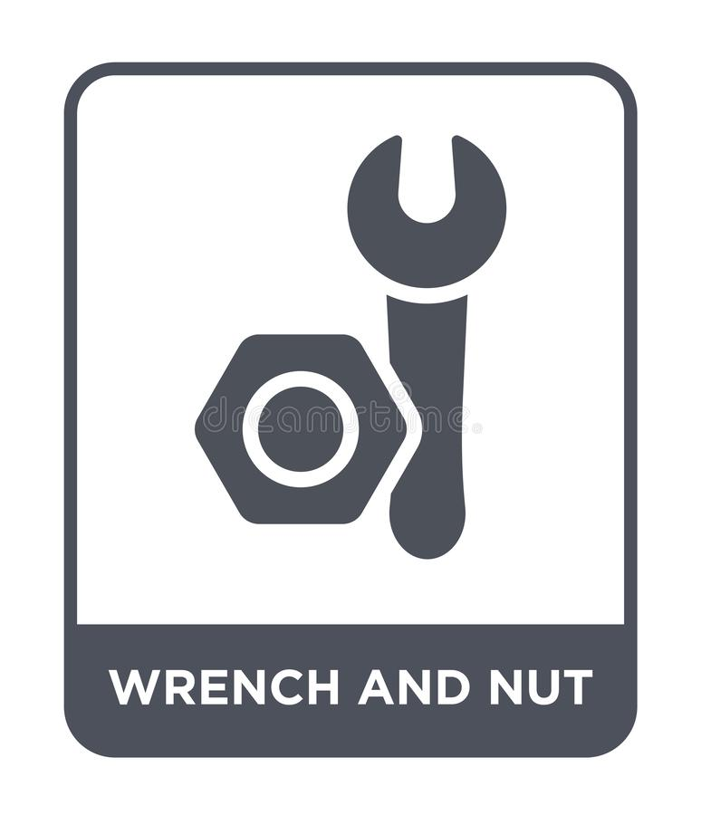 The Logo Of The Bolts And Wrenches Stock Illustration