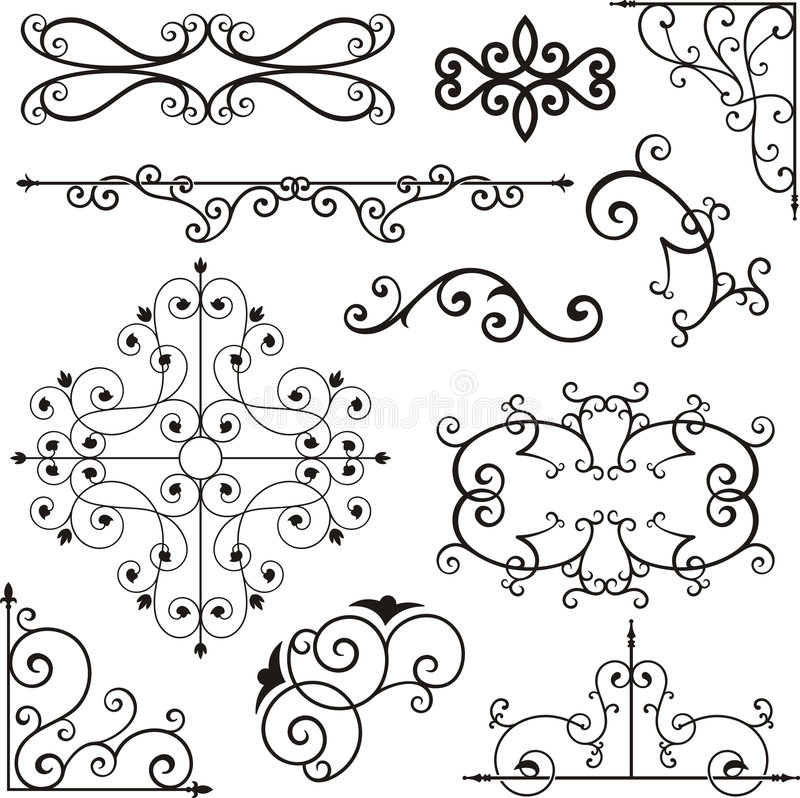 Wrough Iron Ornaments Stock Vector Image Of Floral
