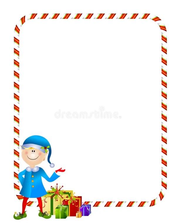 xmas elf with border stock