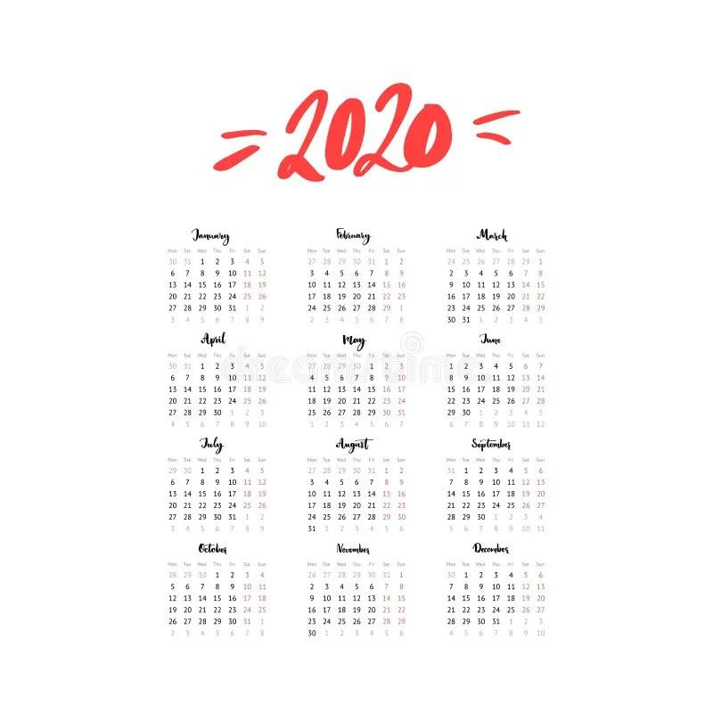 Simple European Square Calendar 2016 Stock Vector