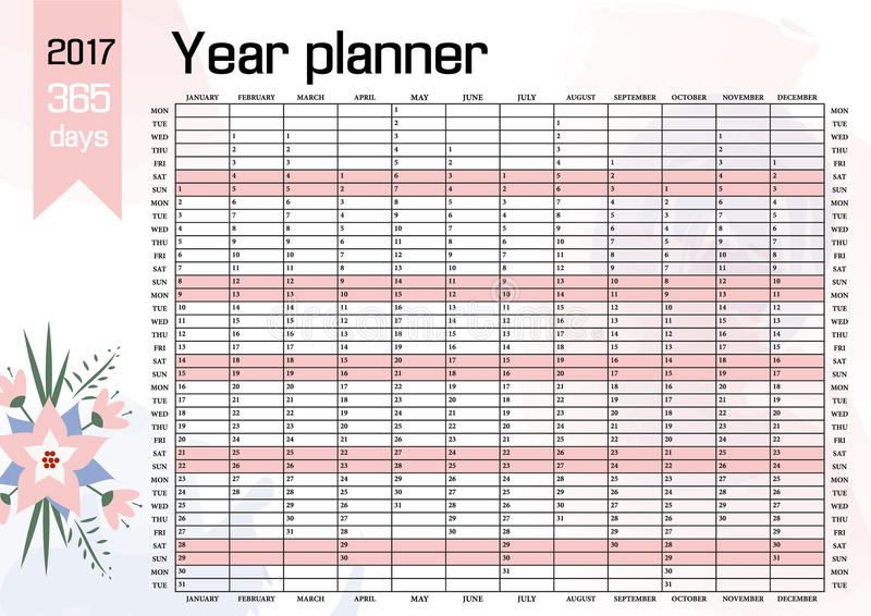picture 2017 Poster Calendar Template year wall planner plan out your whole