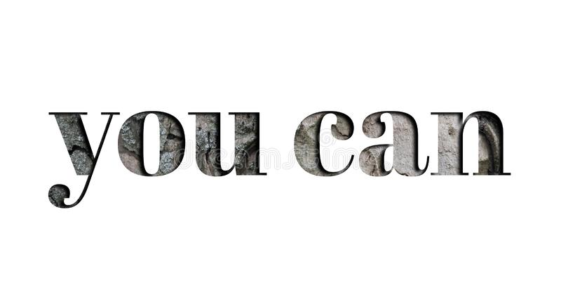Yes You Can, Motivational Words Quotes Concept Stock Photo