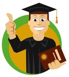 student graduate dottorando young vector jonge college cartoon graduation ung doktorand university karikatur aufbaustudium junger giovane successful roses letter certificato