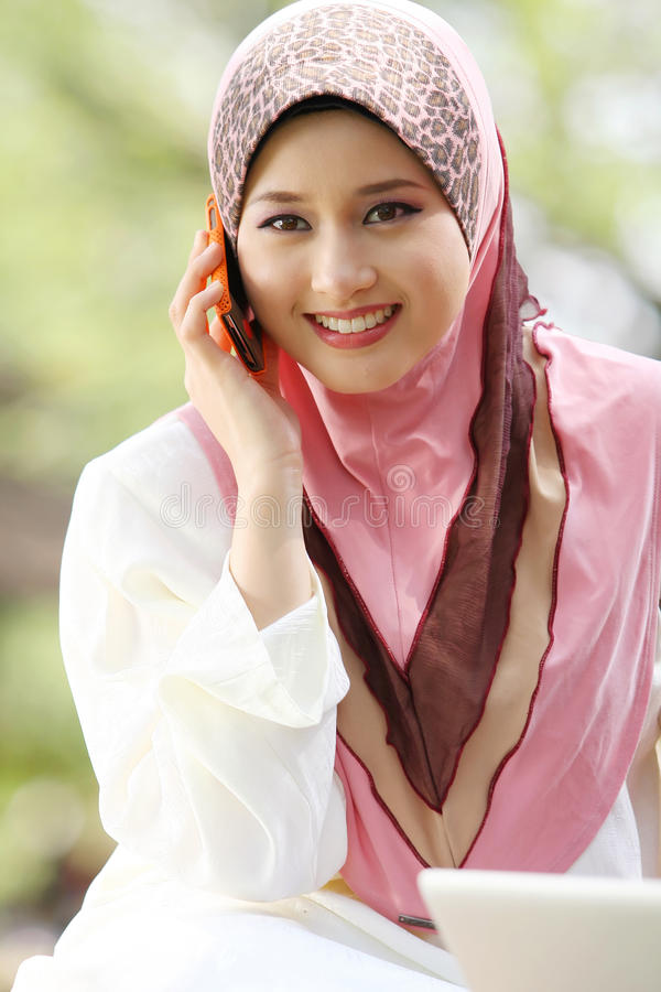 Cute Cellphone Wallpaper For Women Young Muslim Girl Stock Image Image Of Beautiful Ethnic
