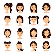 young pretty women faces