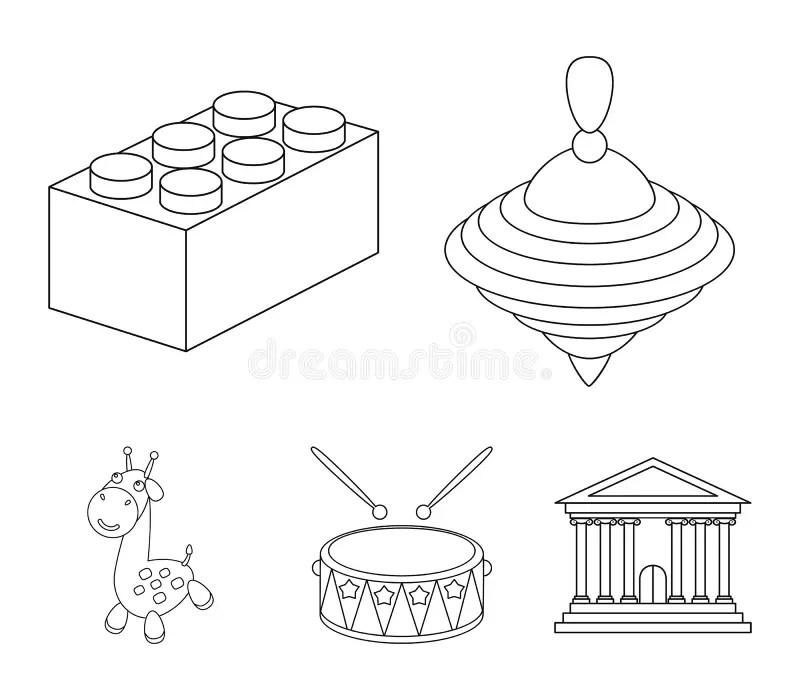 Lego Block Outline Stock Illustrations