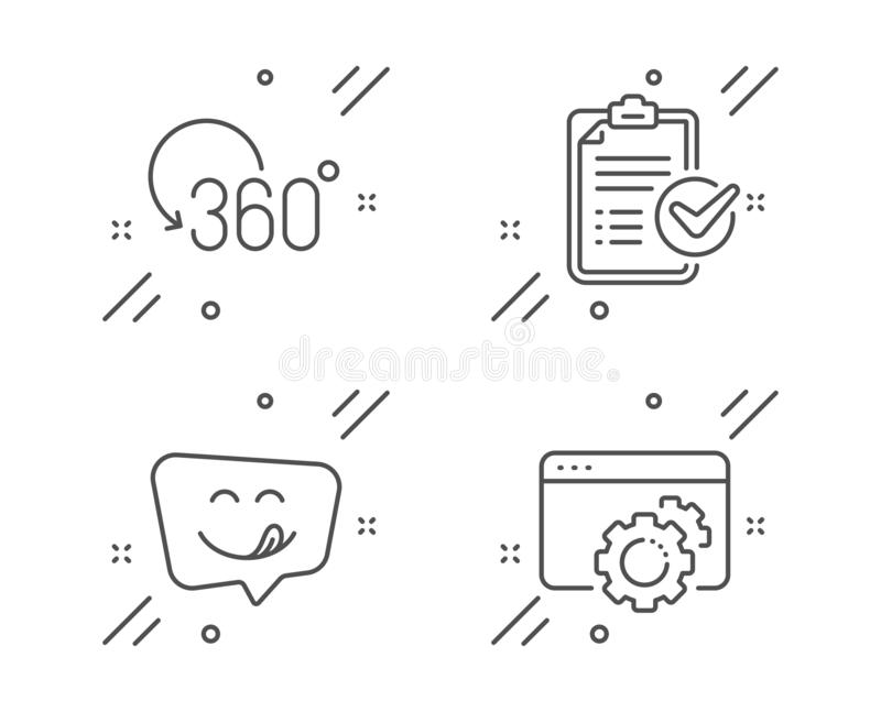 Smile, Quiz Test And Journey Path Icons Set. Accounting
