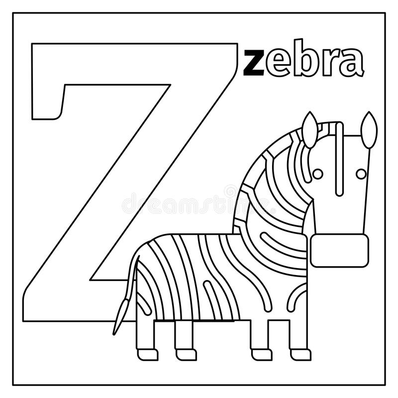 Coloring Book Cartoon Numbers Set 1 Stock Vector