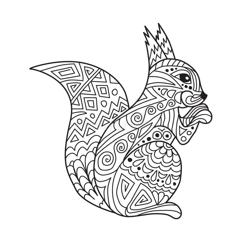 Zentangle The Baikal Squirrel For Adult Anti Stress
