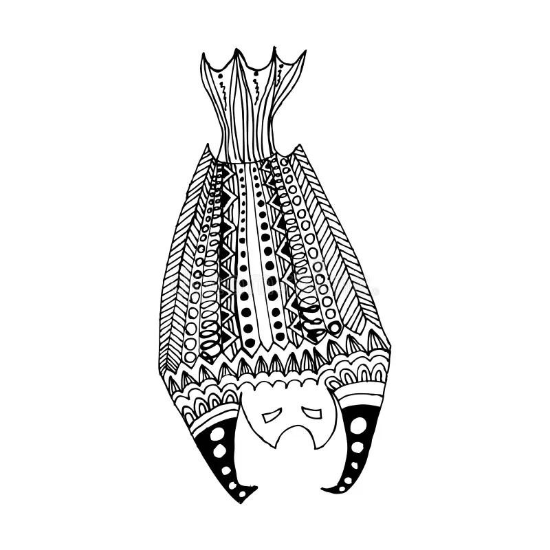 Tribal Bat 5. stock vector. Illustration of fauna, design