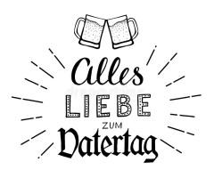 Zum Vatertag De Alles Liebe Ilustración del Vector ...