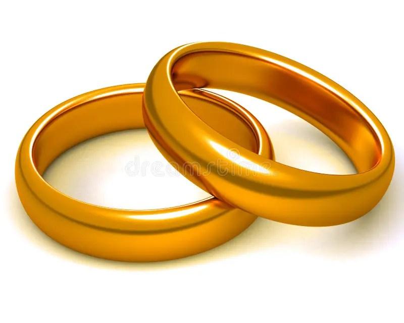 Zwei goldene Ringe stock abbildung Illustration von