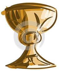 Artistic colorful chalice isolated