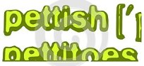Focus on the word pettish isolated