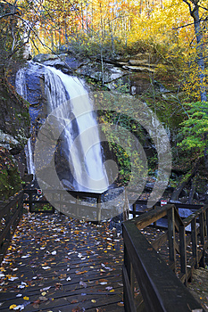 High Shoals Falls in North Carolina