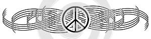 Symbol of peace on elegant decoration isolated