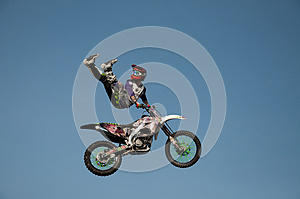 Motorcycle stunt man