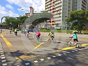Road cyclists - Singapore