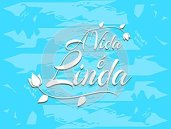 Sentence Life is beautiful in Portuguese