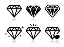 Ícone Do Anel De Noivado Do Diamante Ilustração Stock