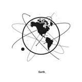 Órbita Elíptica Do ` S Da Terra Ilustração do Vetor
