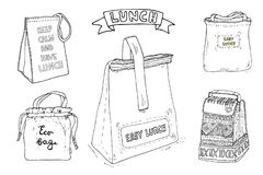 Keep Calm And Have Lunch Illustration. Lunch Bag With Hand