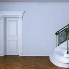 Kitchen Aid Classic Plus Wine Rack 经典白色厨房援助和白色内部与木木条地板库存例证 插画包括有设计 瓦片 与木门和大理石楼梯的经典内部3d Rende 免版税库存图片