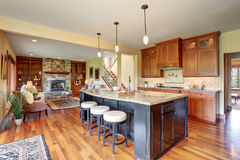 small kitchen plans cabinet factory outlet 与空心肋板计划 客厅看法的小厨房区域库存图片 图片包括有装备 硬木 拱道 最高限额 灌肠器 74395351