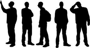 人剪影 向量例證. 插畫 包括有 行家, 青年時期, 等高, 背包, 設計, 樂趣, 朋友, 人群, 保險開關 - 13190189