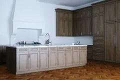 kitchen aid colors cheap decor 在现代内部的木厨房家具从b的晚上视图库存例证 插画包括有设计 布琼布 经典木厨房援助和白色内部与木parque 皇族释放例证