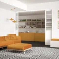 Wine Kitchen Rugs Commercial Mats 有沙发 大圆的地毯和厨房的最低纲领派客厅背景 灰色和黄色现代室内设计 灰色和黄色现代室内设计的库存照片 图片包括有家具 当代 90344796
