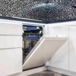Kitchen Aid Dishwashers Tiny Remodel 洗碗机内部库存照片 图片包括有清洁 器物 充分 家事 厨房 干净 洗碗机固定白色厨房辅助现代厨师免版税库存图片