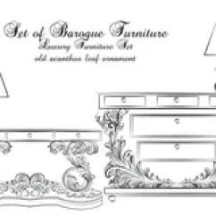 Benches For Kitchen Table Cabinet Slides 经典巴洛克式的表和灯家具集合 向量例证. 插画 包括有 厨房, 通道, 长凳, 办公室, 形状, 草图, 洛可可式 ...