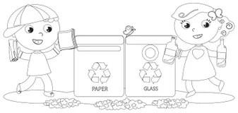 黑白回收箭头 向量例证. 插画 包括有 环境, 着色, 垃圾, 速写, 环境保护者, 本质, 绿色, 例证