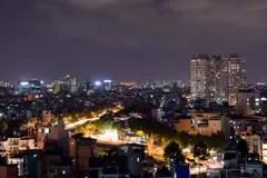 夜都市風景胡志明市越南街市的西貢 編輯類庫存圖片. 圖片 包括有 地平線, 反映, 都市風景, 商業, 城市 - 64784294
