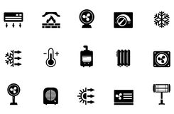 Vector Air Conditioning Icons Royalty Free Stock Image