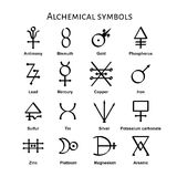 Alchemical Symbols stock vector. Image of painting