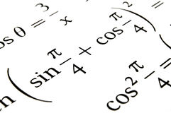 Algebra formulas close up. stock image. Image of study