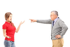 Angry Father Shouting At His Daughter Stock Image - Image ...