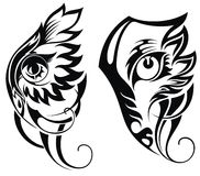 Flying wolf tattoo stock vector. Illustration of tribal