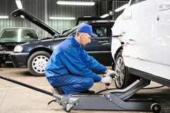 Auto Mechanic Repair Car Body Stock Image Image Of