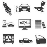 Marketing icons stock illustration. Illustration of market