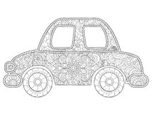 Toy car coloring stock illustration. Illustration of