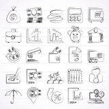 Bank icons stock vector. Illustration of business