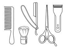 Barber Tools Stock Illustrations